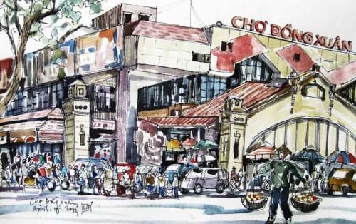 Chợ Đồng Xuân – địa điểm du lịch hấp dẫn bậc nhất Hà Nội