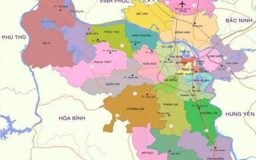 Bản đồ thành phố Hà Nội mới nhất năm 2019