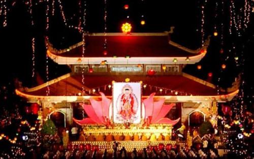 Không gian thanh tịnh chùa Hoằng Pháp Hóc Môn thành phố Hồ Chí Minh