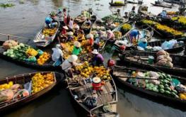 Ngắm trọn nét đẹp độc đáo của Chợ nổi Cái Bè ở Tiền Giang