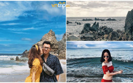"""Đứng ngồi không yên trước bãi biển """"độc nhất vô nhị"""" ở Quảng Bình"""