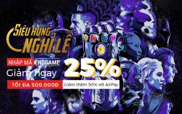 Nhập mã ENDGAME – Nhận Siêu ưu đãi 25% đặt khách sạn toàn quốc