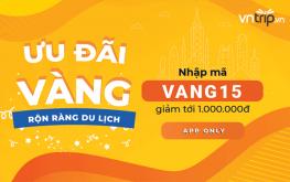 Ưu đãi Vàng – Rộn ràng du lịch – Tiết kiệm tới 1 Triệu cùng Vntrip.vn