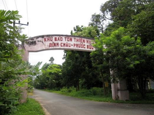 khu bảo tồn thiên nhiên Bình Châu – Phước Bửu.