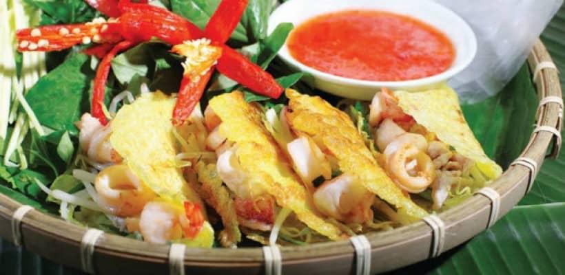 Hình ảnh béo xèo mực- Ăn gì khi tới Nha Trang