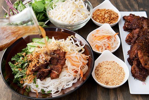 Image result for Bánh ướt, bún thịt nướng