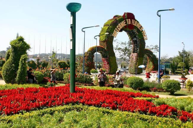 Địa điểm du lịch Đà Lạt - vườn hoa Đà Lạt