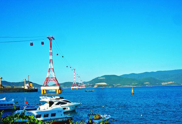 Cáp treo Vinpearl Land Nha Trang – một trong những cáp treo vượt biển dài nhất thế giới (Ảnh: ST)