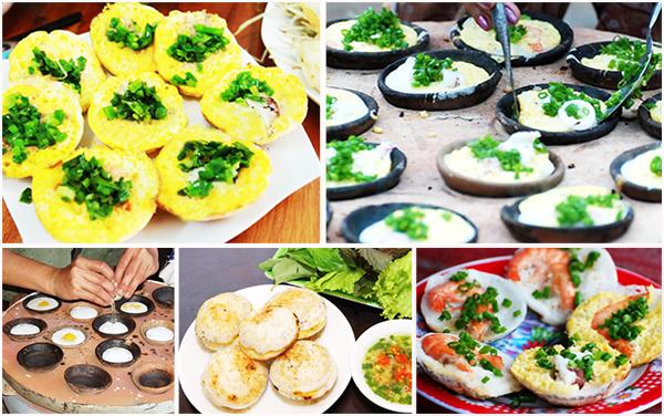 Bánh căn Nha Trang độc đáo với nhiều khẩu vị khác nhau (Ảnh: ST)