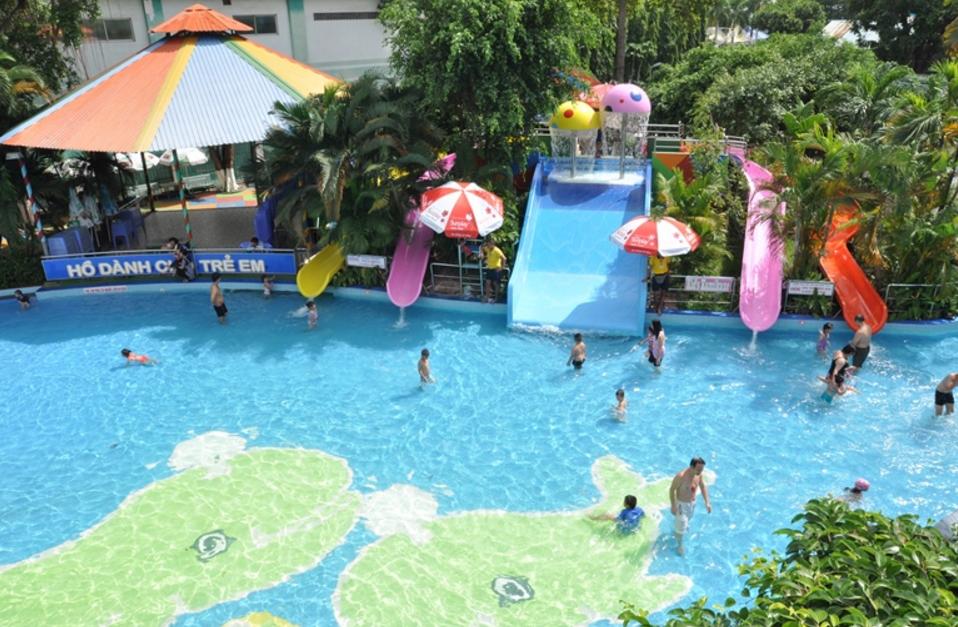 Hình ảnh Hồ Thiếu Nhi của công viên nước Đầm Sen HCM