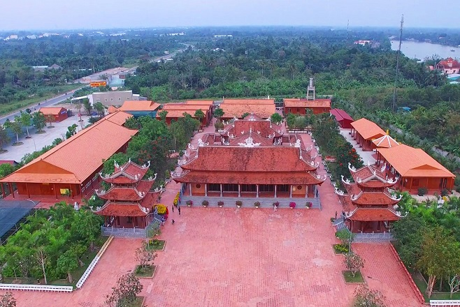 Thiền viện nhìn từ trên cao (nguồn sưu tầm)