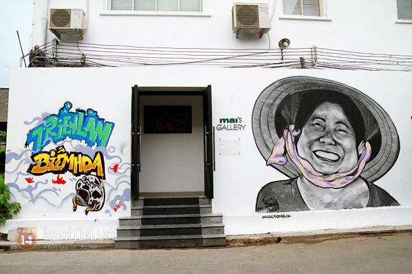 Những bức graffiti thể hiện sự khéo léo