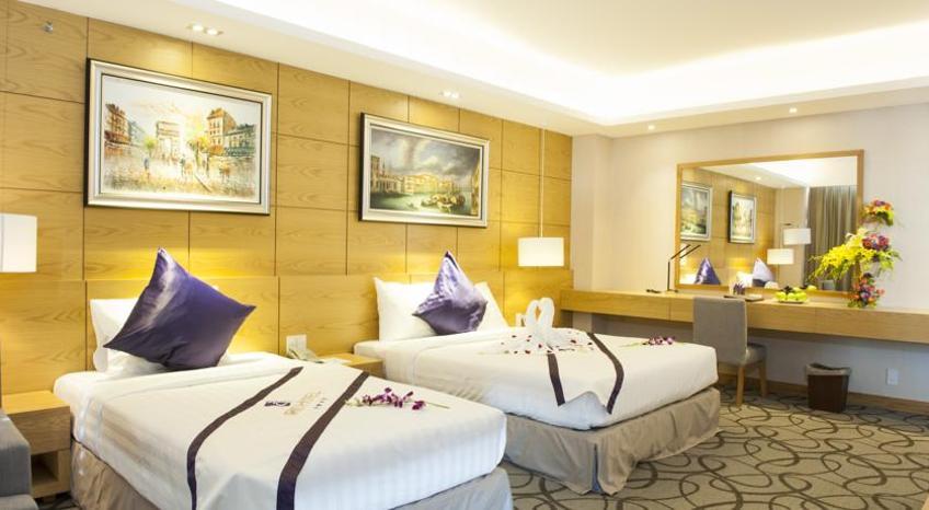 Phòng nghỉ với tông màu ấm áp (nguồn sưu tầm)