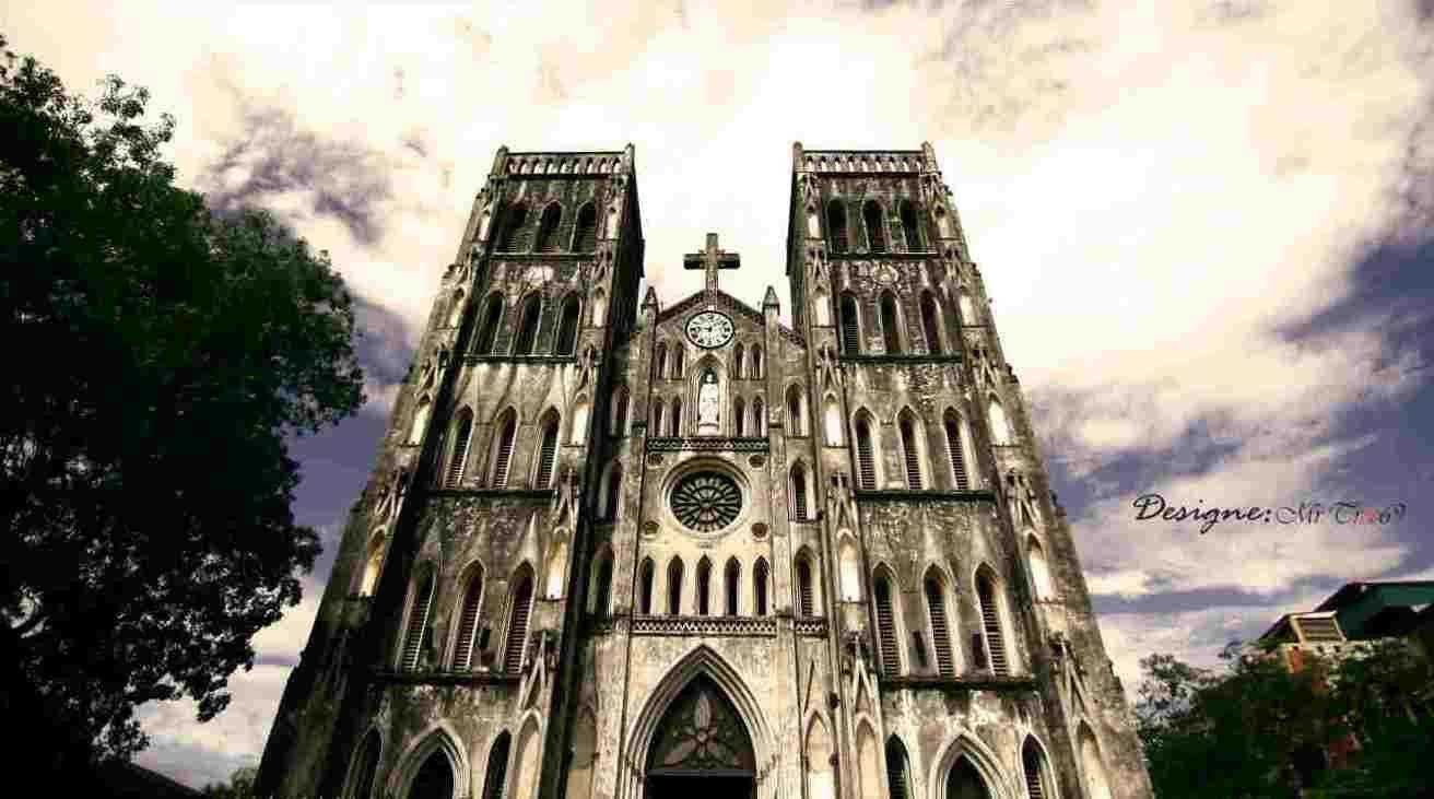 du lịch thành phố Hà Nội không thể bỏ qua nhà thờ lớn