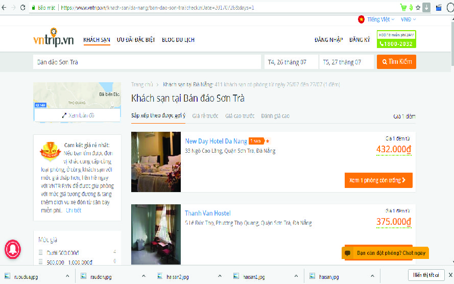 Khách sạn vntrip.vn tại bán đảo Sơn Trà