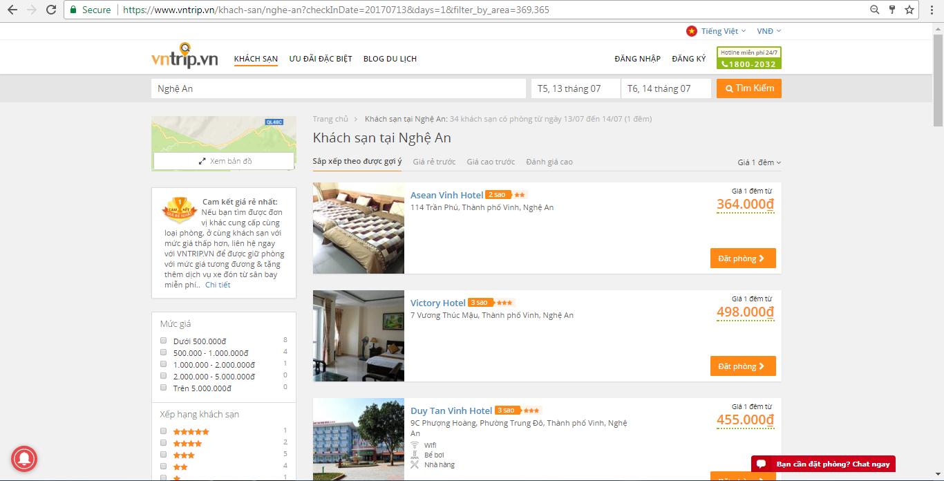 Đặt phòng khách sạn trên Vntrip.vn