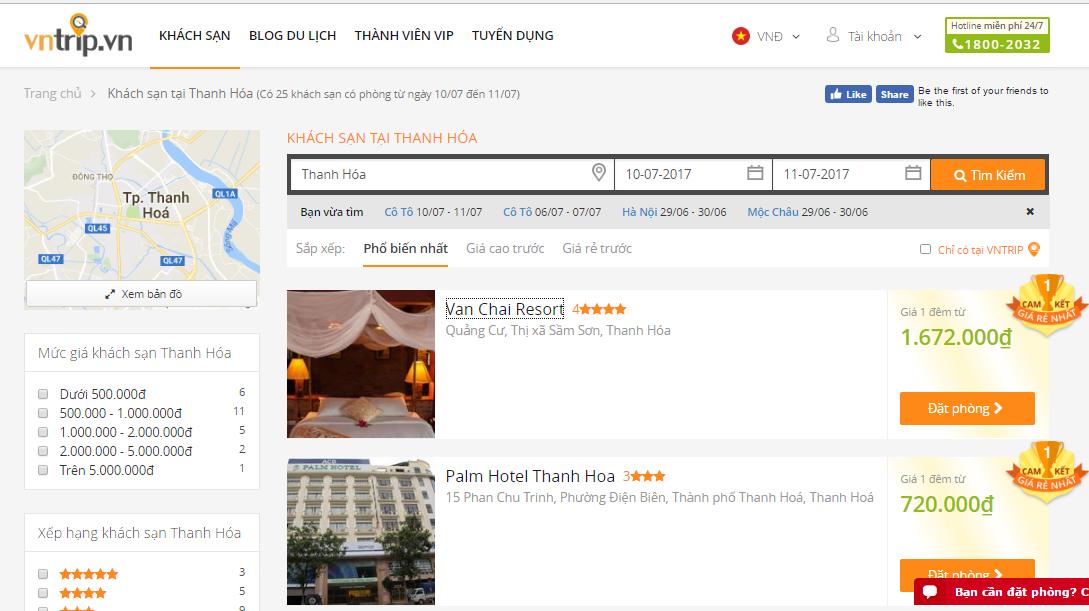Khách sạn ở Thanh Hóa: Đặt phòng tại Vntrip.vn