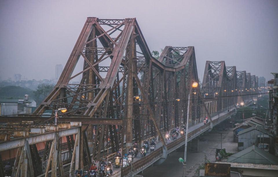 Cầu Long Biên đã từng là cây cầu dài thứ hai Thế giới