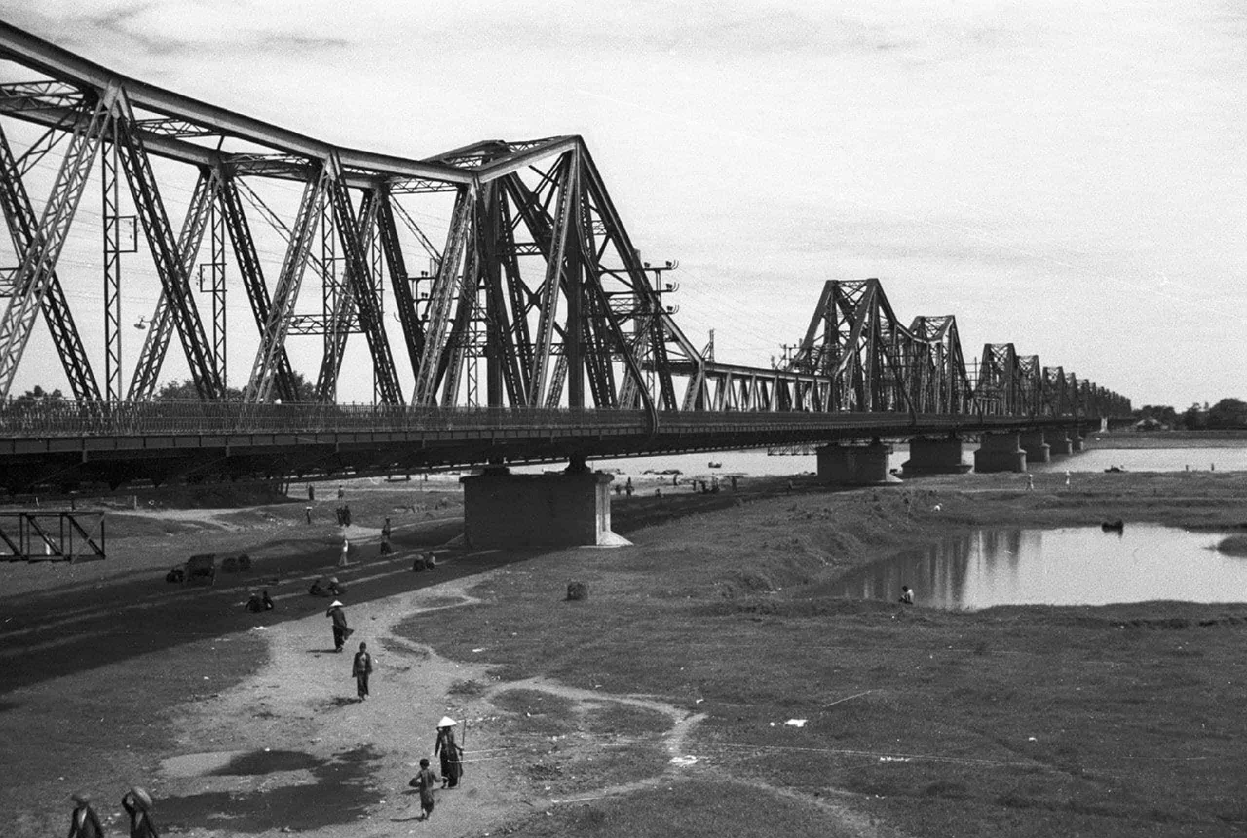 Long Bien Bridge in the 1940s