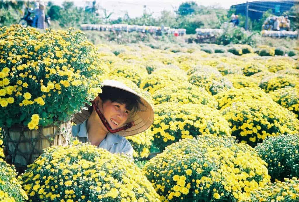 Hạnh phúc của những người dân quanh năm gắn bó với những chậu hoa cảnh (Ảnh: ST)