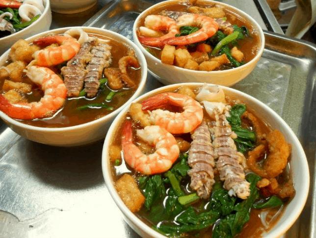 Món ăn bún Cù Kỳ thơm ngon