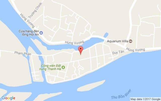 Bản đồ đường đi vị trí làng Gốm Thanh Hà (Ảnh ST)