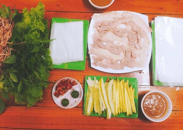 Bánh tráng cuốn thịt heo - quán ăn ngon Đà Nẵng