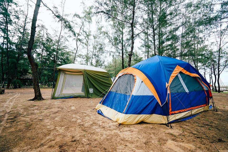 """Cắm trại là hoạt động vô cùng """"hot"""" ở đèo Nước Ngọt Phước Hải (Ảnh: ST)"""