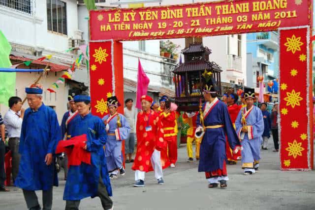 Lễ Kỳ Yến Đình Thần Thành Hoàng là một điểm du lịch ở Hà Tiên hấp dẫn (Ảnh sưu tầm)