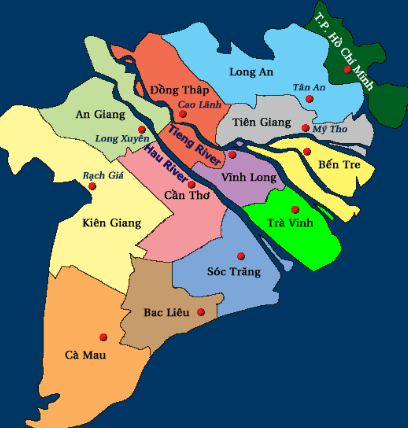 Bản đồ du lịch miền Tây (Ảnh ST)