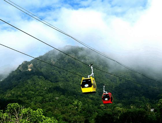 Cáp treo ở Núi Cấm (Ảnh ST)
