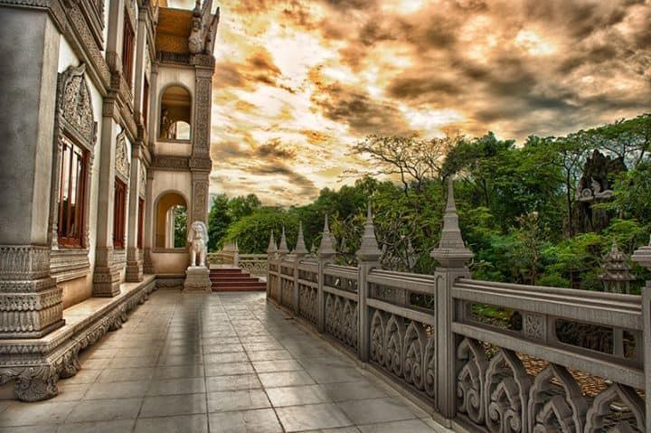Khung cảnh chiều tà ở chùa Bửu Long ngôi chùachùa Thái Lan ở Sài Gòn (Ảnh: Xuan Nguyen)