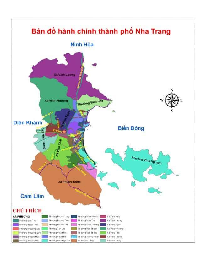 Bản đồ thành phố Nha Trang