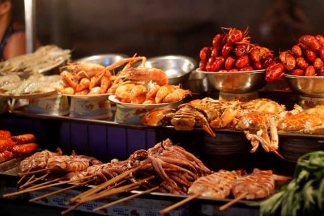 Và những món hải sản