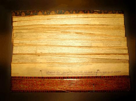 Hình ảnh Pho kinh bối diệp bằng tiếng Pali tại chùa Xá Lợi