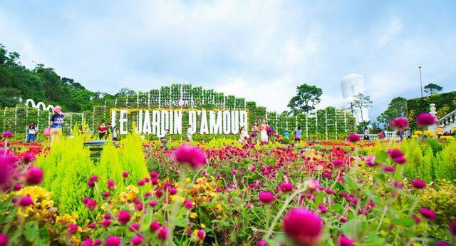 Vườn hoa tình yêu ở Bà Nà