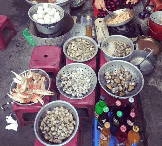 Món ốc là món ăn vặt được nhiều người yêu thích khi tới Vũng Tàu