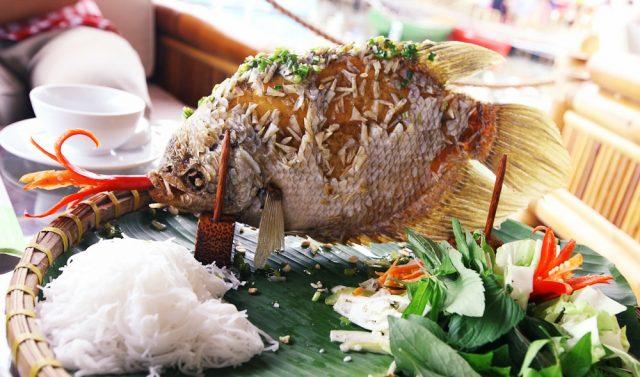 Cá tai tượng chiên xù (Ảnh: Sưu tầm)