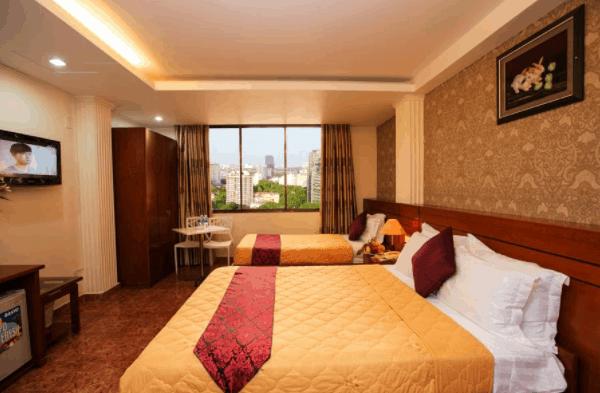 Không gian phòng nghỉ tại khách sạn Nouveau Happy Inn