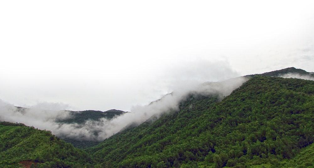 Ảnh chụp toàn cảnh đỉnh núi. (Ảnh ST)