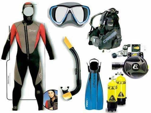 Những vật dụng cần thiết khi lặn biển (Ảnh sưu tầm)