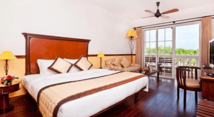 Phòng nghỉ ở Victoria resort Cần Thơ (Ảnh ST)