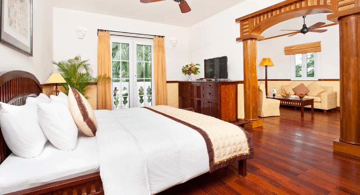 Vẻ đẹp của phòng nghỉ ở Victoria resort Cần Thơ (Ảnh ST)