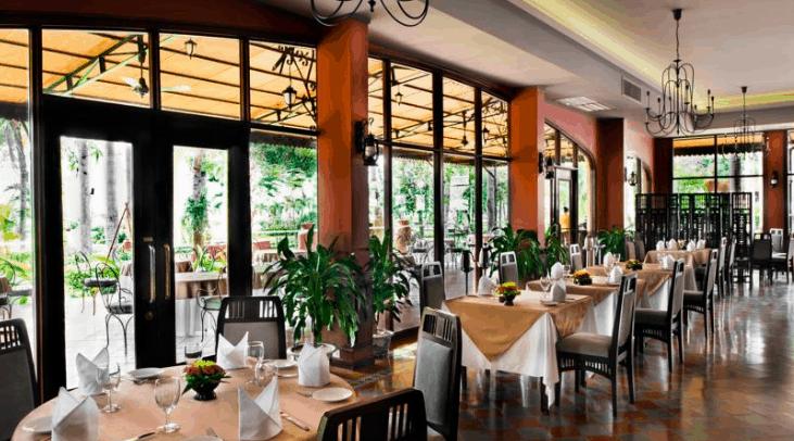 Nhà hàng trong Victoria resort Cần Thơ (Ảnh ST)