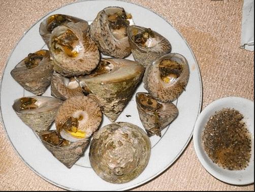 Món ốc vú nàng hấp dẫn ở đảo Cù Lao Câu