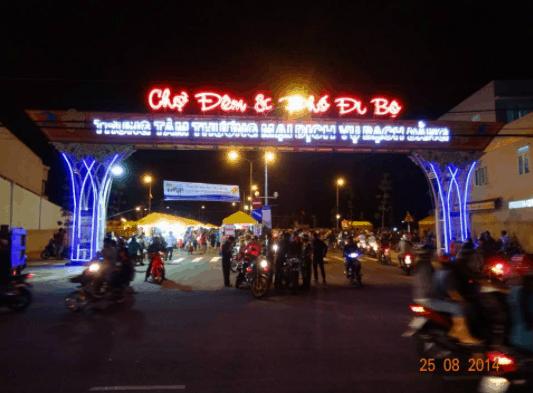 Hình ảnh cổng chợ đêm và phố đi bộ Bạch Đằng