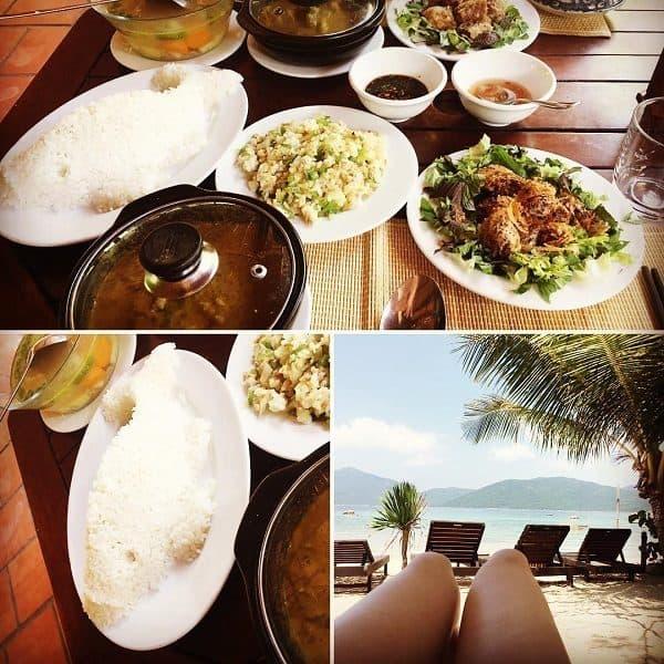 Set ăn theo menu của Resort (Ảnh ST)