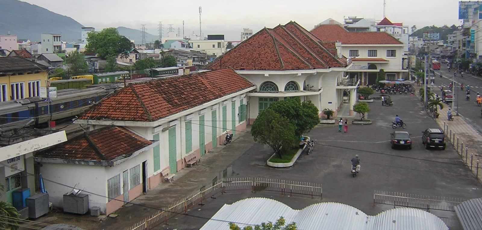 Khung cảnh nhà ga từ trên cao (ẢNH ST)
