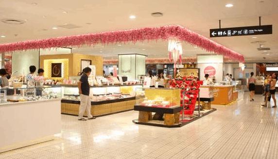 Không gian mua sắm rộng rãi tại Takashimaya