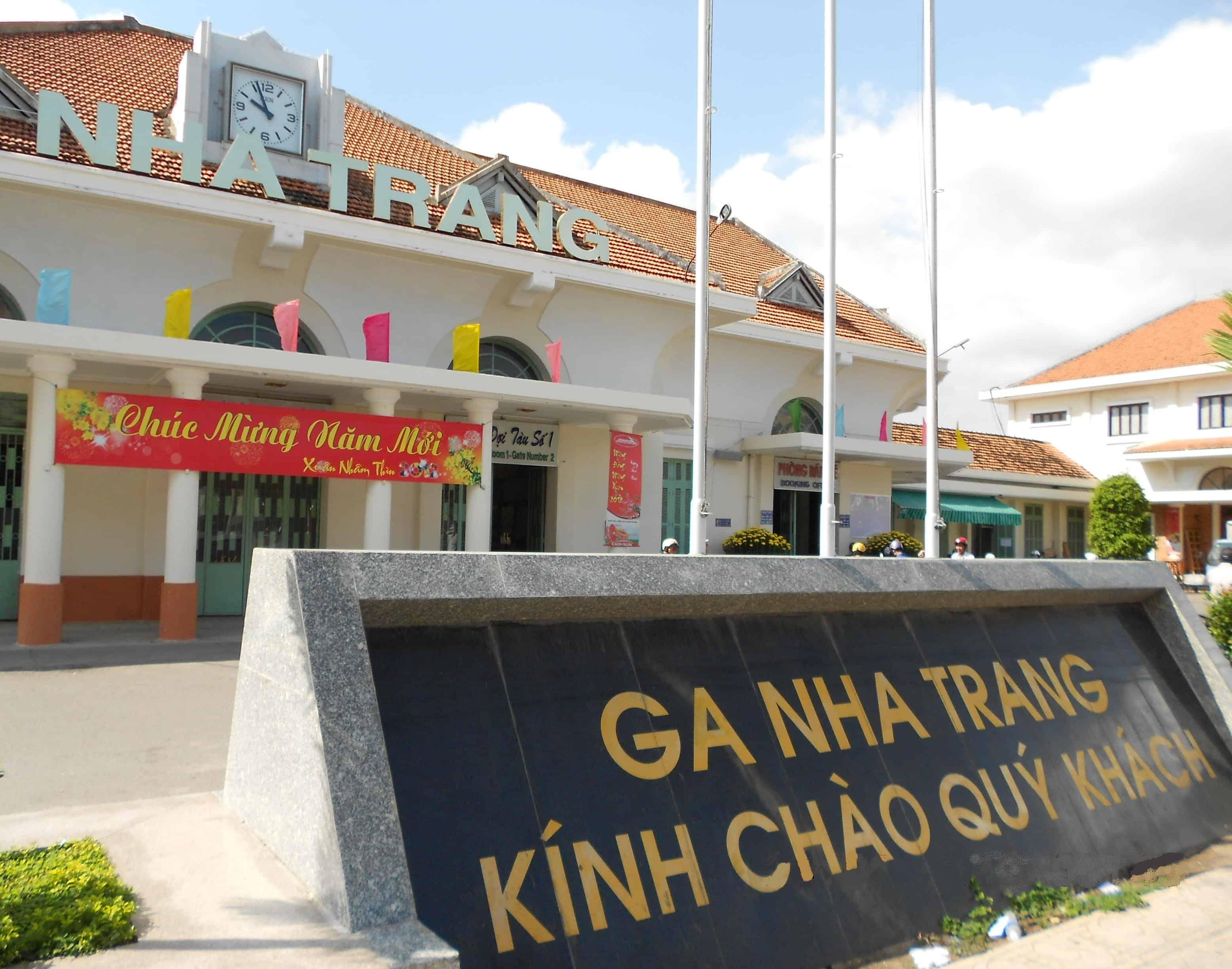 Nhà ga nằm ở ngay trung tâm thành phố Nha Trang (ẢNH ST)